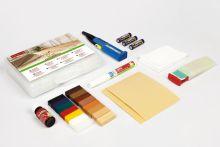 Zestaw naprawczy PREMIUM do olejowanych / woskowanych powierzchni drewnianych, zawiera lakier zabezpieczający