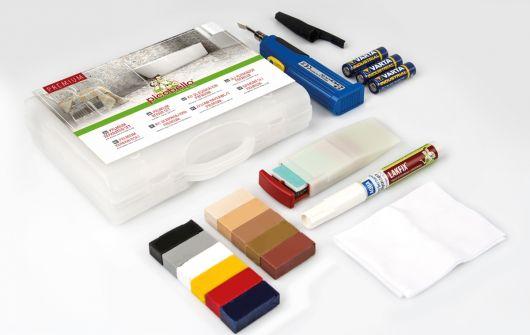 Zestaw naprawczy CERAMIX PREMIUM do naprawy uszkodzeń na ceramice, kamieniu i płytkach, zawiera lakier zabezpieczający